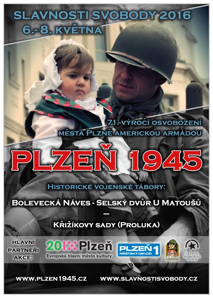 Slavnosti svobody 2016 - projekt PLZEŇ 1945 (MO Plzeň 1)