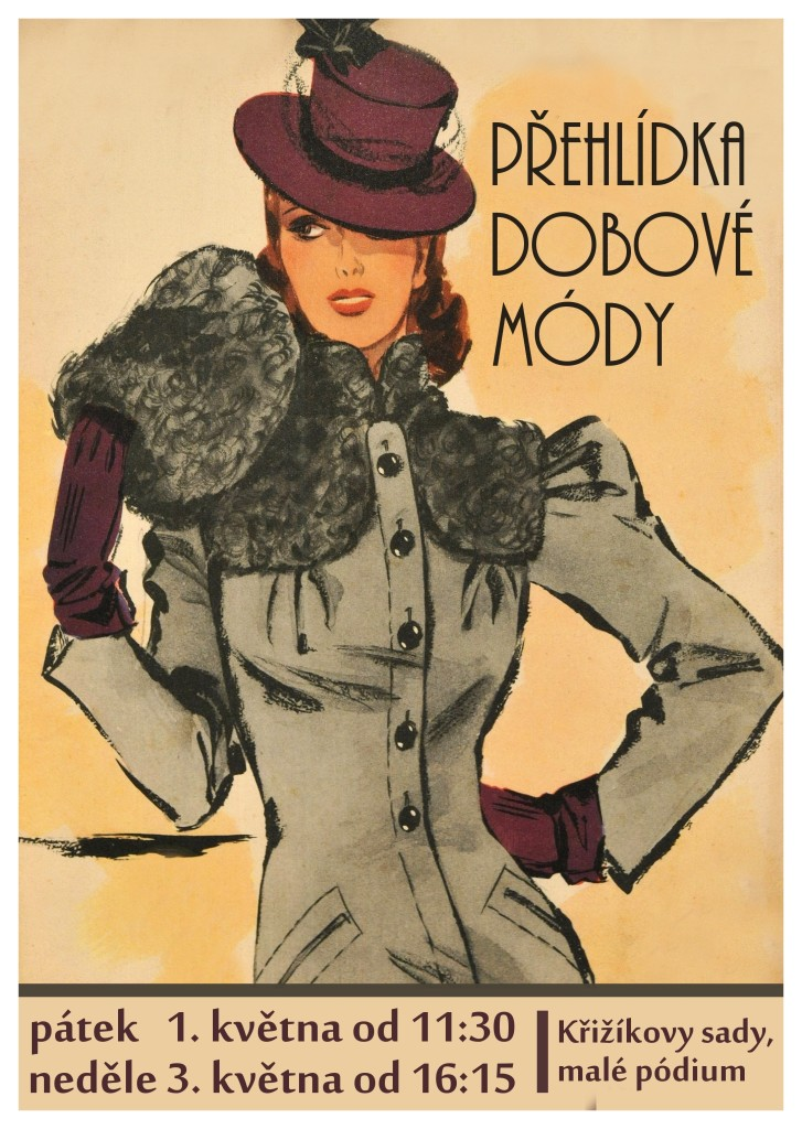 plakat Prehlidka dobove mody
